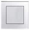 White Glass Chrome Trim RetroTouch Crystal